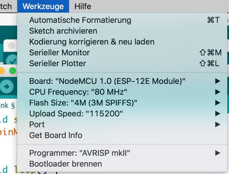 Einrichtung der Arduino IDE mit dem NodeMCU/ESP8266 Board