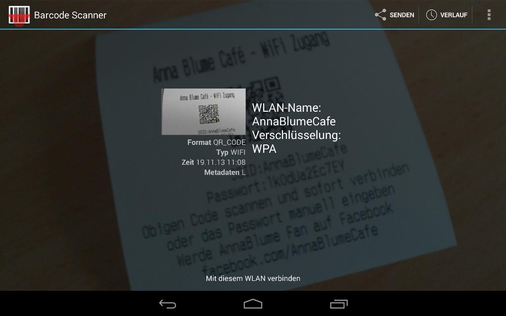 Creating QR-Codes with dynamic WiFi configuration for Point